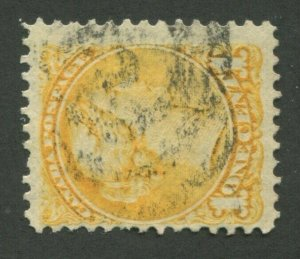 CANADA #35 USED SMALL QUEEN 2-RING NUMERAL CANCEL 3