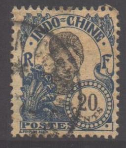 Indo-China SG57, 1907 Annamite 20c used