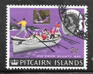 Pitcairn Islands 74: 2c on 2d Oarsman and Longboat, used, F-VF