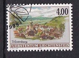 Liechtenstein   #1076  cancelled 1996  village views paintings   4fr