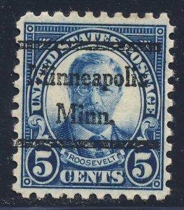 Minneapolis MN, 586-44 Bureau Precancel, 5¢ Roosevelt