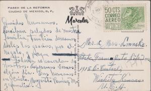 1962 Mexico post card to Wichita, KS.