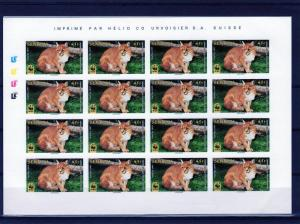 Senegal 1997  WWF African Golden Cat 4 Imperforated Shlt (16) Sc#1294/1297