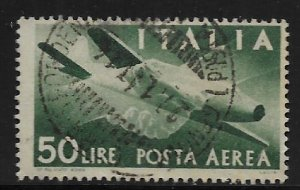 ITALY, C113 USED PLANE AND CLASPED HANDS