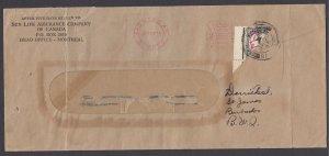 Barbados SG D2a var, 1935 diagonal bisect w/ 1/2d ms value on cover, w/ BPA cert