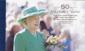 Guernsey 2002 Golden Jubilee prestige booklet SB71 cat £20