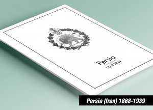 PRINTED PERSIA [CLASS.] 1868-1939 STAMP ALBUM PAGES (57 pages)