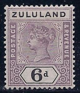 1894 Zululand Scott 19 Queen Victoria MH