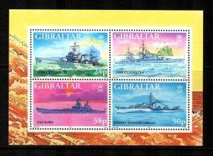 Gibraltar #732  MNH  Scott $5.75   Shee of 4