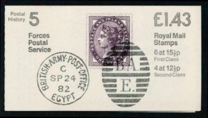 GREAT BRITAIN MINT NH BOOKLET P.H.5 FORCES POSTAL