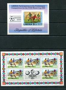 World Cup Soccer Football Germany 2 Souvenir Sheets MNH 8388
