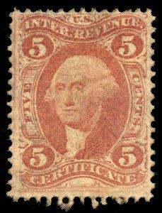 B383 U.S. Revenue Scott R24c 5c Certificate, unused large part OG