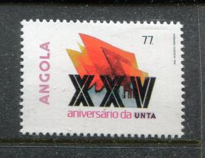 Angola 701, MNH, 25th Ann of the National Union of Angolan Workers 1985 x29179