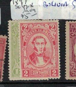 Bolivia 1897, SC 47-8 MOG (3eky)