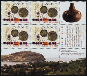 Canada 2403 BR Block MNH Cupids, Map, Coins