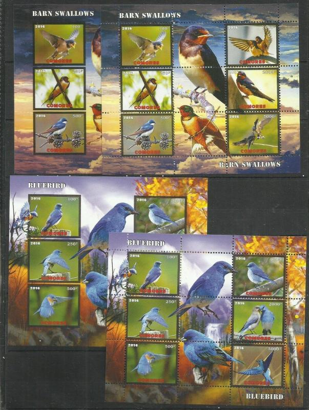 Nature Animals Birds Starling Wren Ostrich Imp.+Perf. 5 sk.- 2016 (pr.issue) FG3