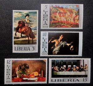 Liberia 489-96. 1969 Paintings