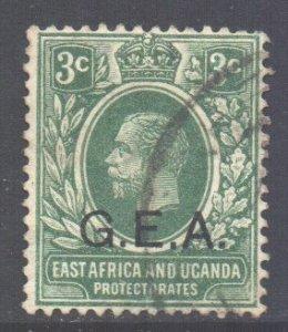 Tanganyika Scott N107 - SG47, 1917 GEA Overprint 3c used