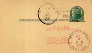 United States, Government Postal Card, U.S. Ships, Minnesota