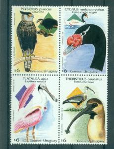 Uruguay - Sc# 1718. 1998 Birds. MNH Block of 4. $7.00.