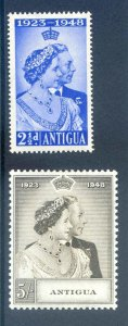 Antigua 1948 Silver Wedding SG112/3 Mounted Mint
