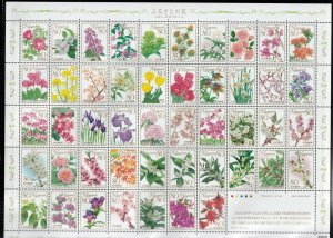 Japan - 2011 - 47 Prefecture Flowers - Stamp Sheets - MNH - Sc 3328b - Sc 3330b