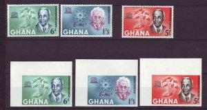 J24426 JLstamps 1964 ghana mnh set perf & imperf #189-91 famous people