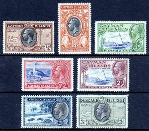 CAYMAN ISLANDS — SCOTT 85//91 (SG 96//102) — 1935 KGV PICTORIALS — MH — SCV $20