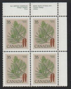 Canada 721 White Pine - MNH - block
