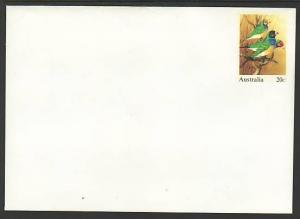Australia Birds Unused Postal Envelope