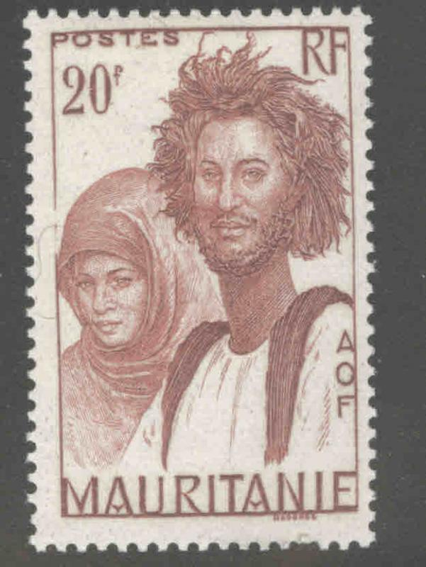 Mauritania Scott 108 MH* from 1938-1940 set