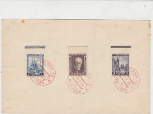 Czechoslovakia 1928  Prague Souvenir Stamps Cancels Cover Ref 23851