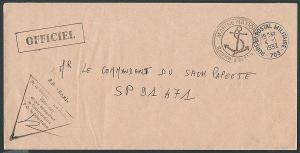 FRENCH POLYNESIA 1992 local military cover with naval handstamp etc........41064