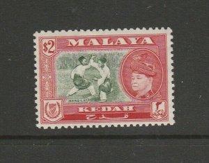 Malaya Kedah 1957 Defs $2 MM SG 101