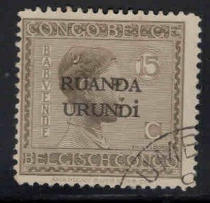 Ruanda-Urundi Scott 8 Used stamp