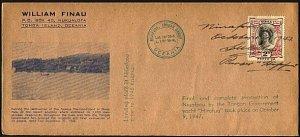 TONGA 1947 Tin Can Island Final Evacuation cover - Manuscript cancel.......93783