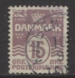 Denmark - Scott 63 - Definitive Issue -1905 - Used - Single 15o Stamp