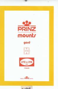 PRINZ CLEAR MOUNTS 270X216 (4) RETAIL PRICE $10.50