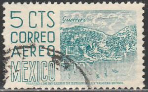 MEXICO C218, 5cents 1950 Definitive 2nd Printing wmk 300 USED. F-VF. (647)