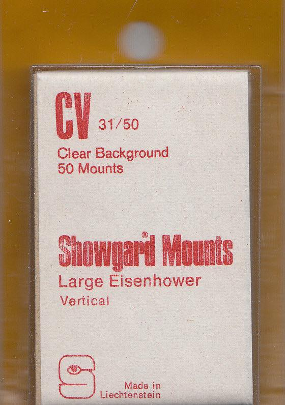 SHOWGARD CLEAR MOUNTS CV 31X50 (40) RETAIL PRICE $3.95