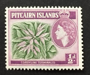 Pitcairn Islands 1957 #20, Plant, MNH.