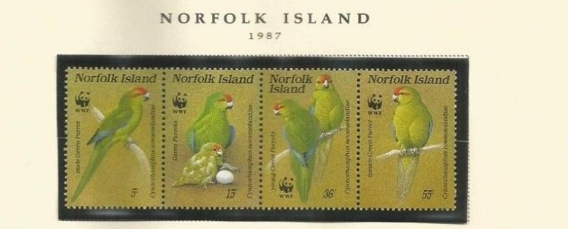 NORFOLK ISLAND SCOTT 421 MNH