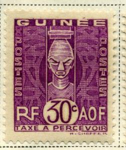 FRENCH COLONIES  GUINEE 1938 early Postage Due issue Mint hinged 30c. value