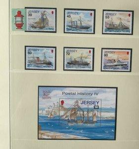 JE104) Jersey 2010 Jersey Postal History Part IV (6) + M/S MUH