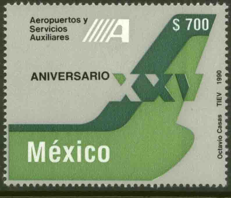 MEXICO 1653 System of Aiports and Auxiliary Services MNH