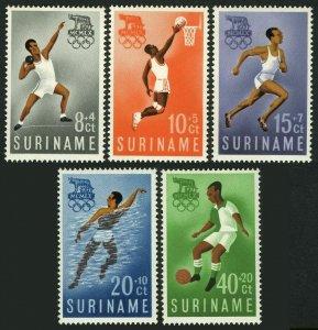 Surinam B75-B79,MNH.Michel 384-388. Olympics Rome-1960.Basketball,Runner,Soccer,