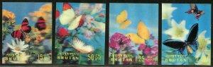 BHUTAN 3-D BUTTERFLIES SCOTT#95/95G   MINT NEVER  HINGED--SCOTT$27.70