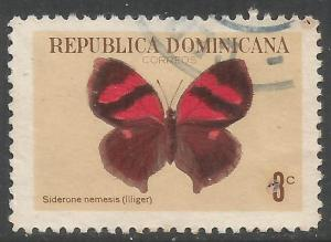 DOMINICAN REPUBLIC 626 VFU BUTTERFLY Z2314-4