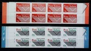 1995 Italia Museo Poste Italiane 2 Libretti MNH** Annullo FDC al Verso 14806