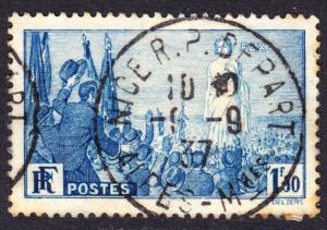 France Scott 321  Fine used with a splendid SON cds.